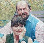 Portriat Painting of Beryl and Cliff Marchant